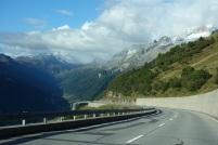 Abfahrt vom Gotthard